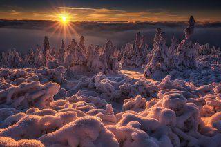 Freezy sunset